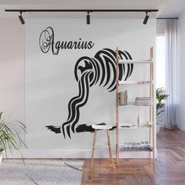Aquarius Zodiac Water Bearer Wall Mural