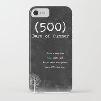 500 days of summer iPhone & iPod Cases featuring 500 Days of Summer by DrøpDeadRian