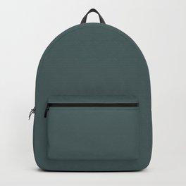 Dark Forest Pine Green Solid Color Parable to Valspar Sequoia Glade 5002-4C Backpack