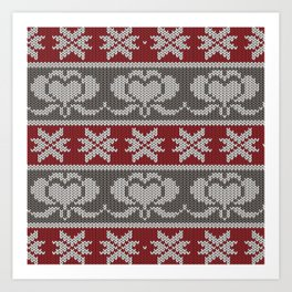 Ugly knitted Hearts Art Print