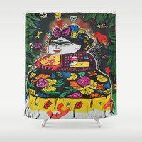 potato Shower Curtains featuring Frida Potato by cristenhoyt