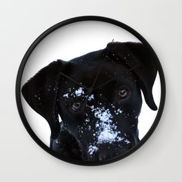 Winter Labrador Wall Clock
