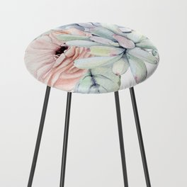 Pretty Succulents by Nature Magick Counter Stool