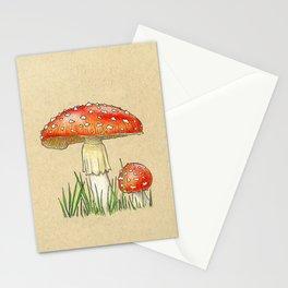 Red Mushroom - Inktober 2019 #28 Stationery Cards
