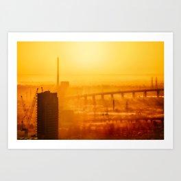 Burning Sunset Through Smog Art Print