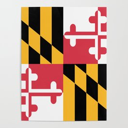 Maryland State Flag Poster