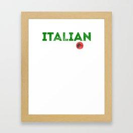 Italian Stallion shirt Italy horse funny gift Framed Art Print