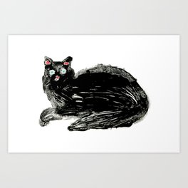 Black Cat. Art Print