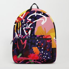 Pinkmoon Nocturnal Flower Constallation Backpack