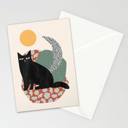 Floral Cat Stationery Cards