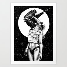 Lovers in the night Art Print