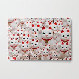 Lucky Cats Metal Print