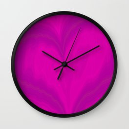 Valentines Day Purple Heart Glitch Pattern Wall Clock