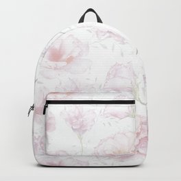 Soft Pastel Pink Rose Pattern Backpack