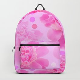 Cute and girly - pink flowers and dots - pink tones - #society6 #buyart Backpack