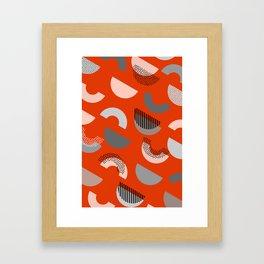 Half-circles Framed Art Print