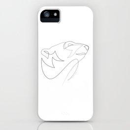 one line polar bear iPhone Case