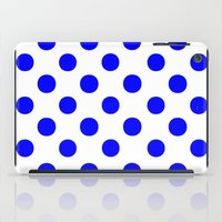 polka iPad Cases featuring Polka Dots (Blue/White) by 10813 Apparel