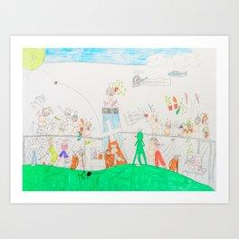 Kelly Bruneau #14 Art Print
