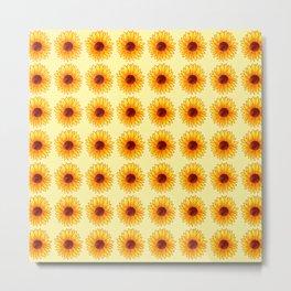 Sunflower Pattern - Sunny Yellow Variant Metal Print