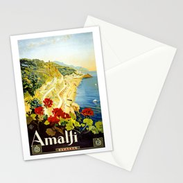 Amalfi Coast, Italy Vintage Travel Poster Stationery Cards