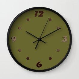 Dark olive Wall Clock