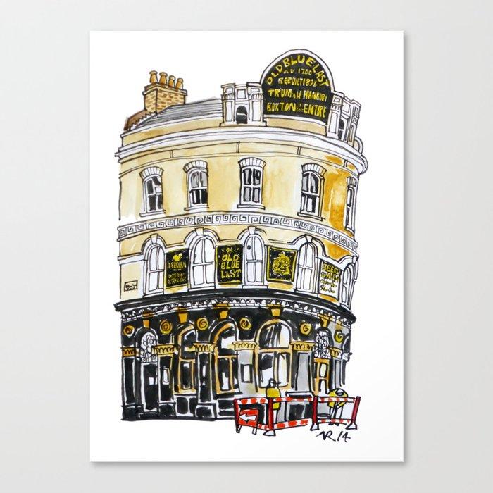 Old Blue Last Pub Leinwanddruck