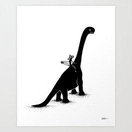 Stokeasaurus Art Print