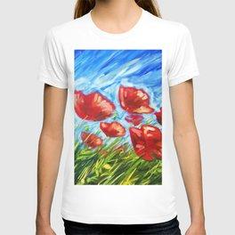 Wild Poppies by Ira Mitchell-Kirk T-shirt