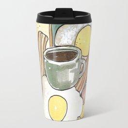 spring breakfast bread egg bacon coffee etc Travel Mug