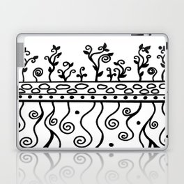 Strong Roots for Growth - Black and White Laptop & iPad Skin