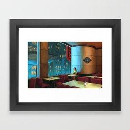 Night Coffee Framed Art Print