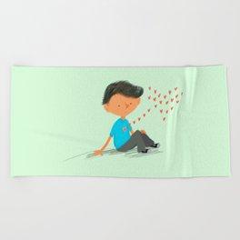 Boy in Love Beach Towel