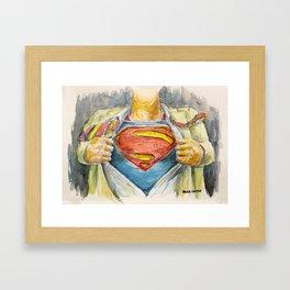 Superman - Fictional Superhero Framed Art Print
