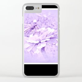 Violet Tones For The Butterfly Clear iPhone Case
