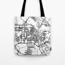 AMSTERDAM NETHERLANDS BLACK CITY STREET MAP ART Tote Bag