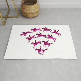 Connected to Showjumping (Magenta) Rug