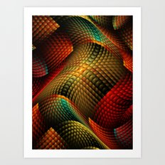 Bed of Snakes Art Print