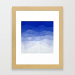 Imperial Lapis Lazuli - Triangles Minimalism Geometry Framed Art Print