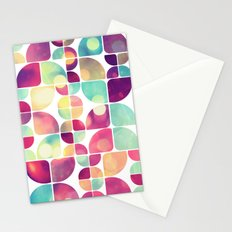 City Lights Pattern Stationery Cards