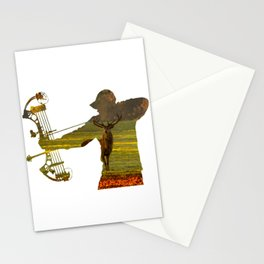 Deer Hunter Bow Hunter Stationery Cards