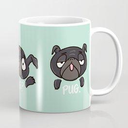 Pug Mug black Pugs Cute Funny silly pugs Coffee Mug