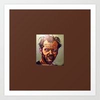 jack nicholson Art Prints featuring Jack nicholson by Jonny Moochie