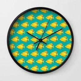 Little Yellow Fish Wall Clock