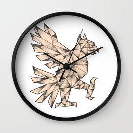 Cuauhtli Glifo Eagle Tattoo Wall Clock