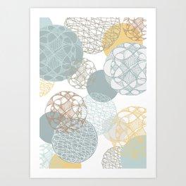 Floating Circles Art Print