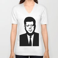 jfk V-neck T-shirts featuring JFK by b & c