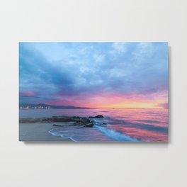 Pastel Beach Sunset Metal Print
