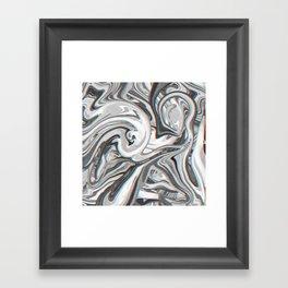 Marble Glitch Pattern Framed Art Print