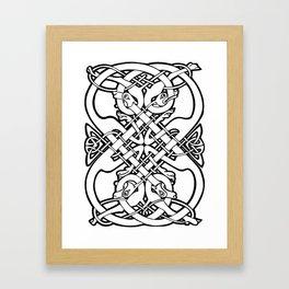 Celtic dogs 1 Framed Art Print